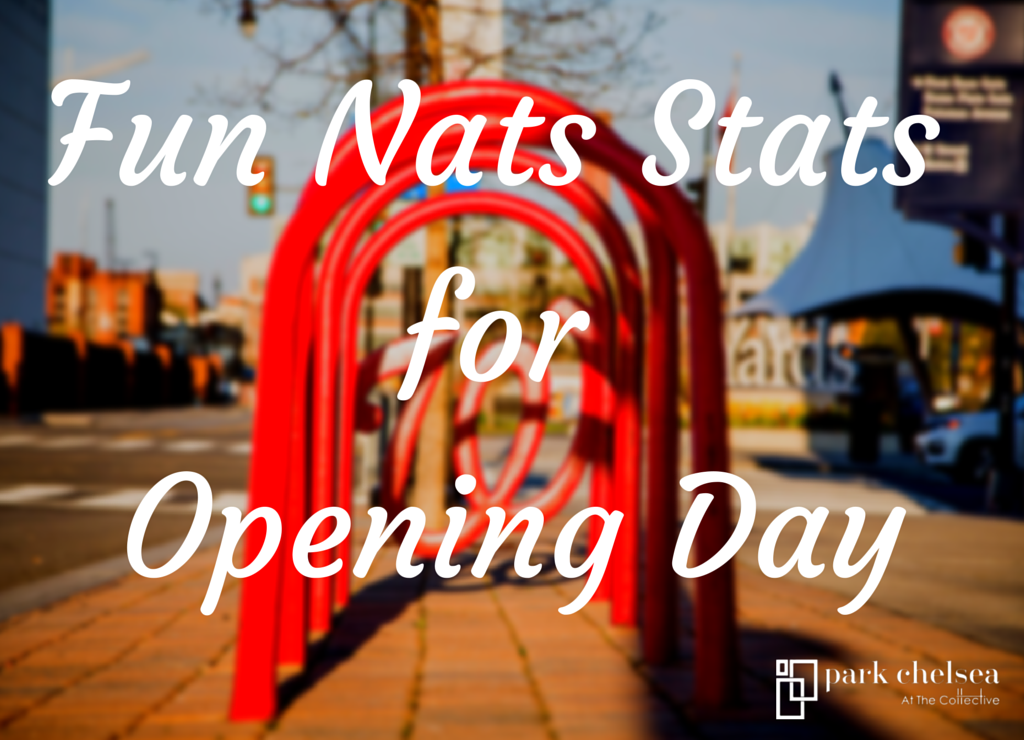 Fun Nats stats for opening day | Infographic about the Washington Nationals baseball team | Nationals Park Washington DC
