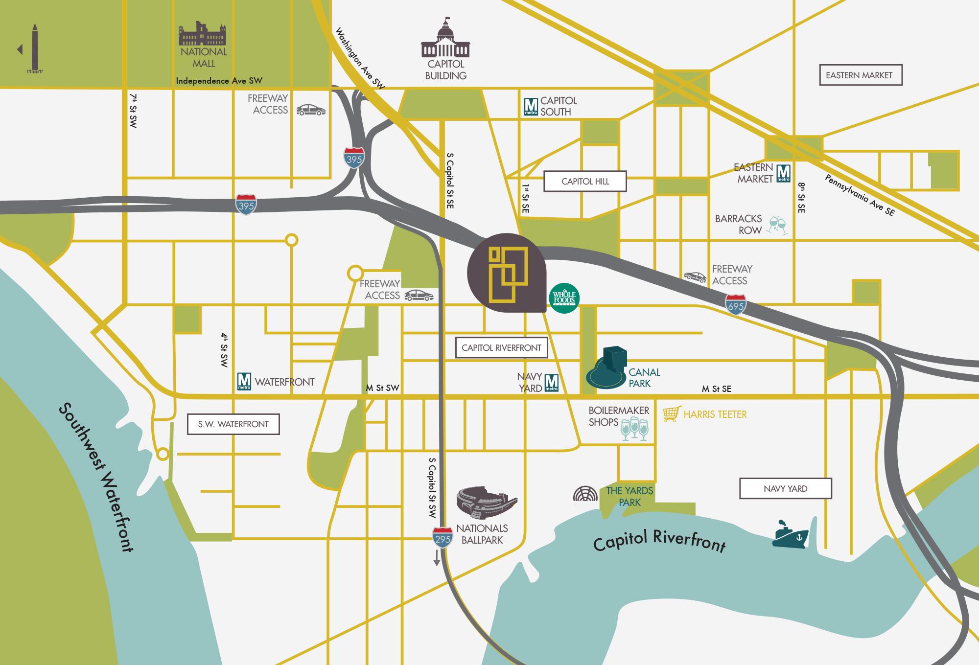 Capitol Riverfront Map