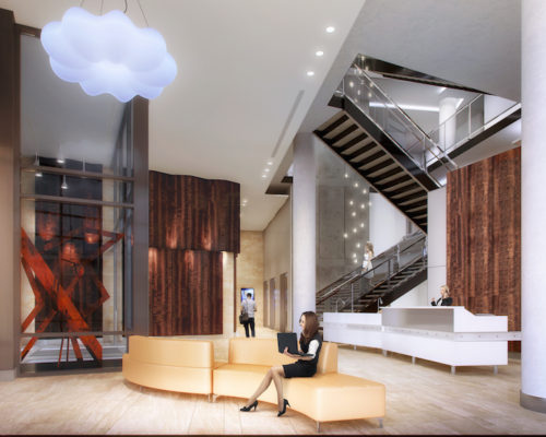 Agora Apartments | Capitol Riverfront Washington DC Apartments | Contruction Update Photos | Lobby Rendering