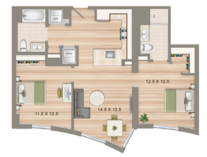 5 Important Apartment Features For Roommates To Consider Some Perfect 2 Bedroom Floorplans