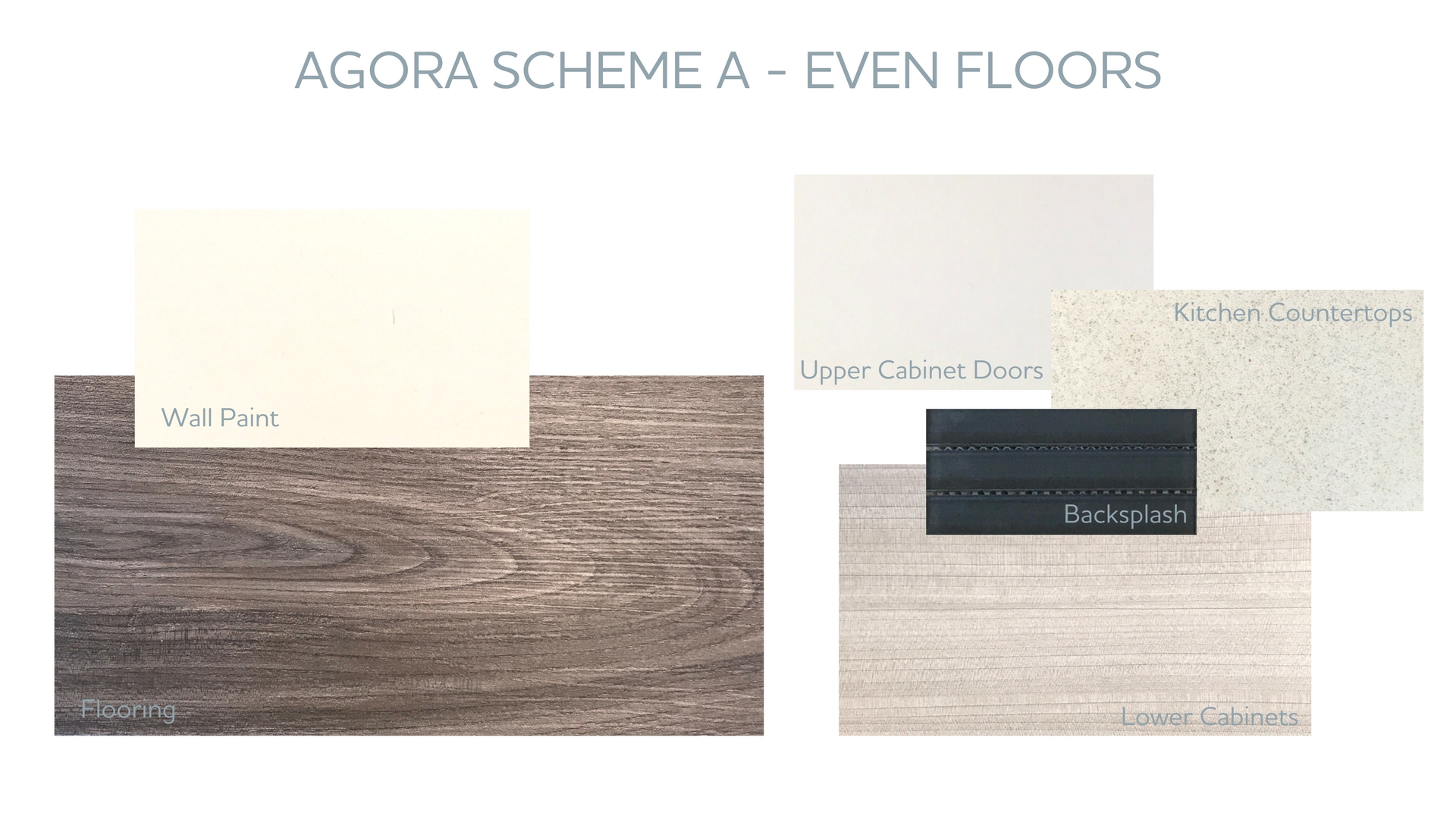 Scheme A Can Be Found On The Even Numbered Floors At Agora And Features  U201cPrarie Brownu201d Wood Style Flooring, Lower Kitchen Cabinets In U201cFrati Ribbon  Uno ...