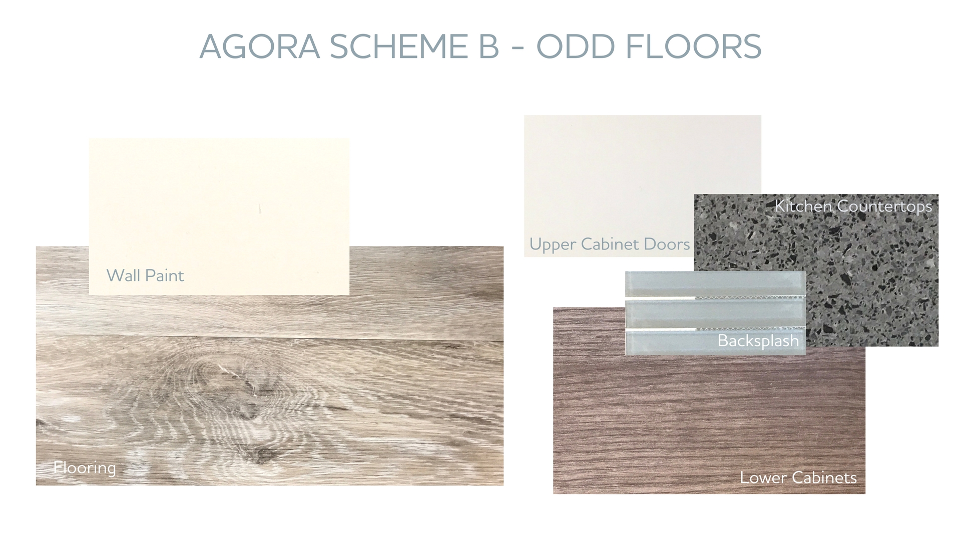 Scheme B Can Be Found On The Odd Numbered Floors At Agora And Features  U201cMaritime Grayu201d Wood Style Flooring, Lower Kitchen Cabinets In U201cFrati  Tortuga Uno ...