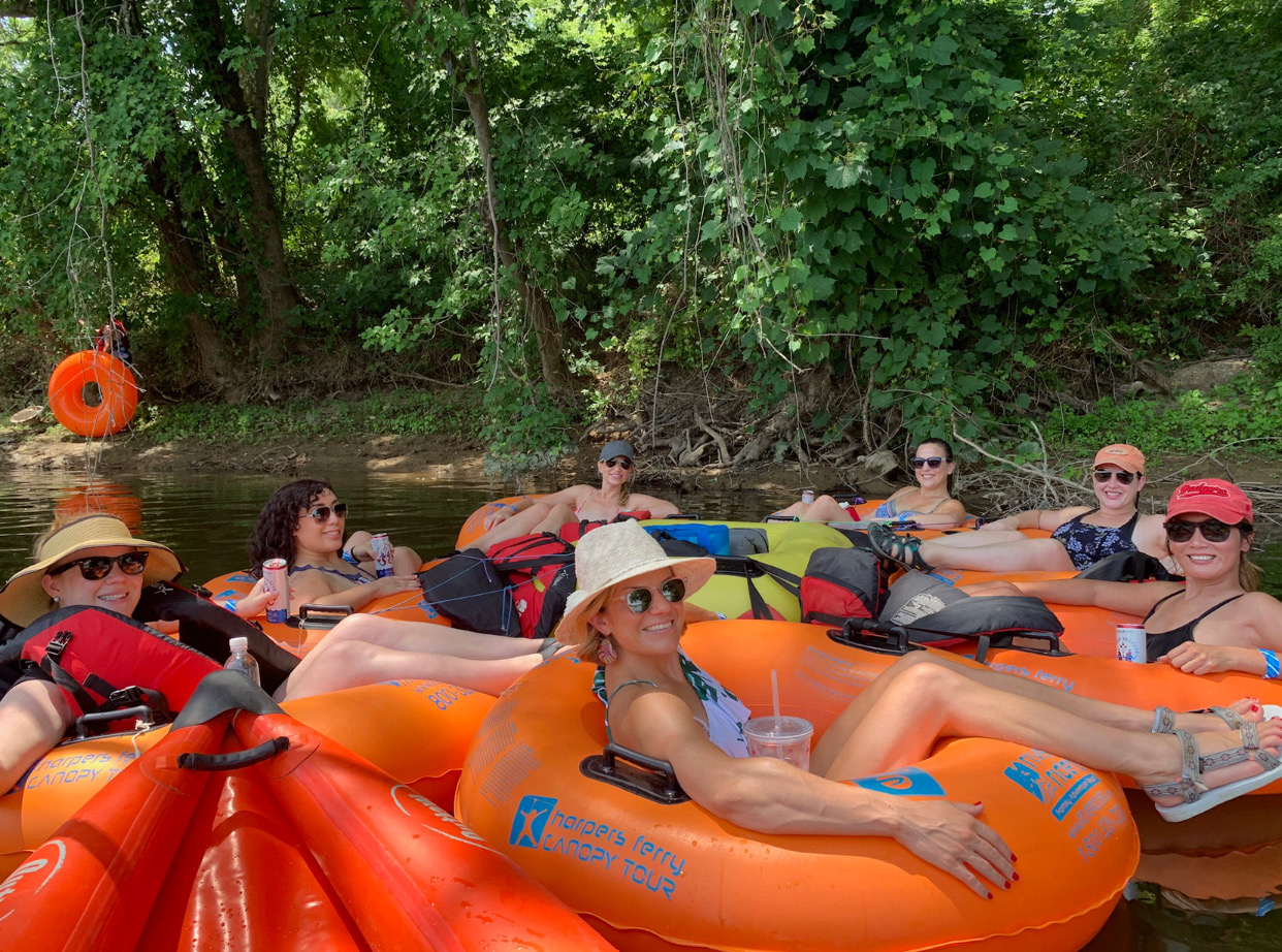 Outdoor-Activity-Water-Tubing-Summer-Sunglasses-Group
