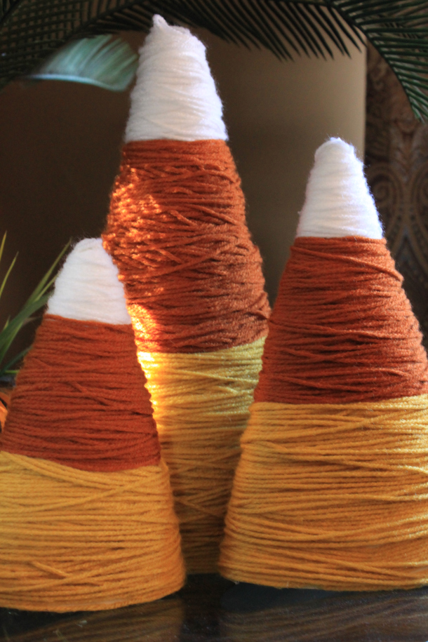 Yarn-Candy-Cones-Decor-Fall-Crafting-DIY-Projects-Apartment
